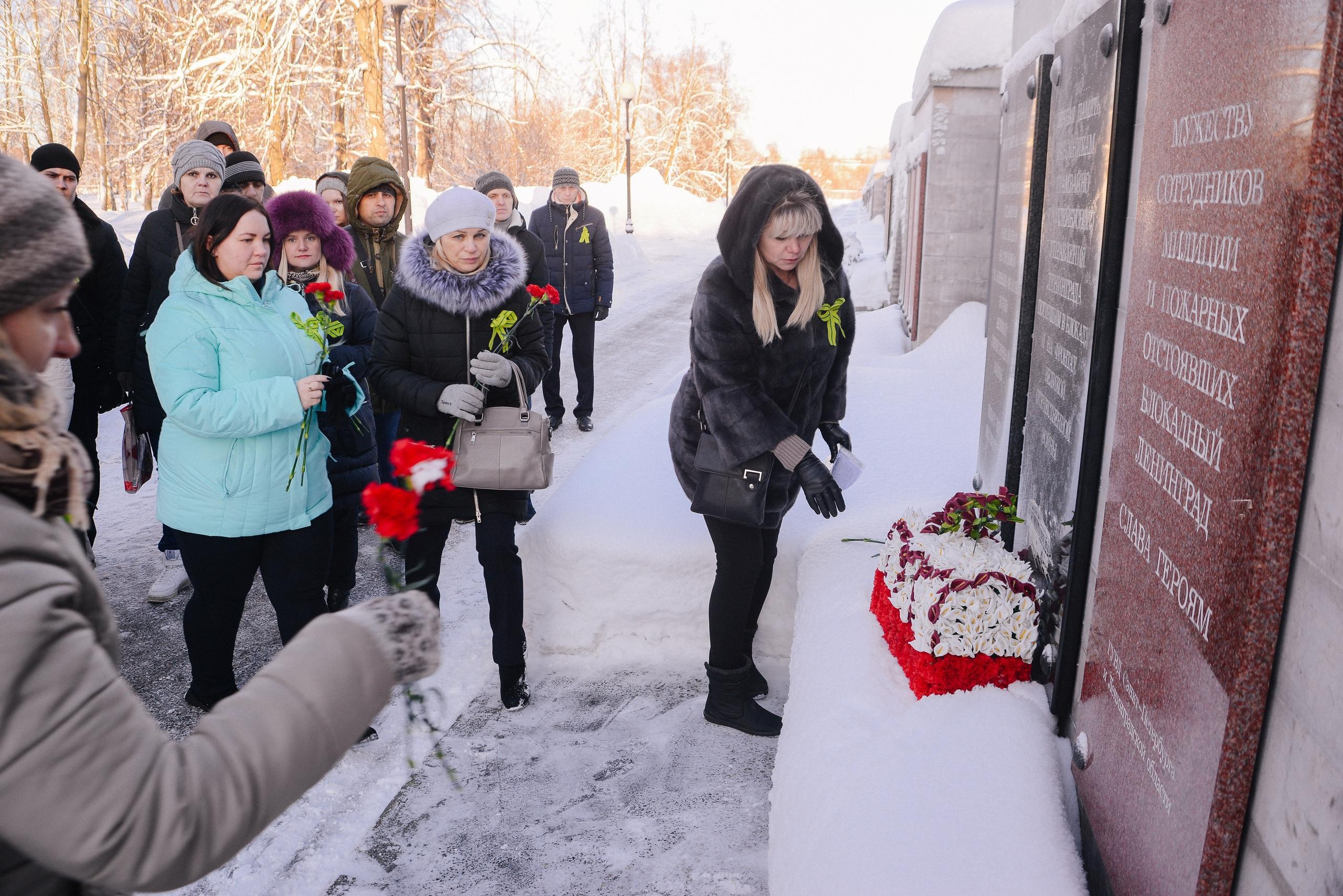Воспитанники УКК почтили память трамвайщиков блокадного Ленинграда